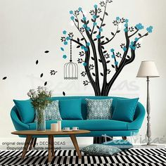 Items similar to Tree Wall Decal - Cage Sticker - Flowers Decal - Leaves Decal - Nature Decal - Tree Cage Vinyl Wall Decal Sticker on Etsy Modern Wall Decals, Custom Wall Decals, Nursery Wall Decals, Wall Decal Sticker, Baby Items For Sale, Little Paris, Flower Wall Decals, Workspace Inspiration, Tree Wall