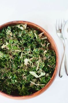 Kale Salad w/ Spicy Almond Dressing