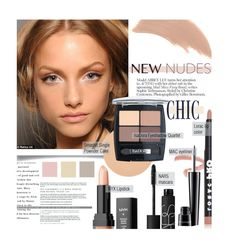 """""""Fall Beauty: Nude Color Palette"""" by sofiasolfieri ❤ liked on Polyvore featuring beauty, NARS Cosmetics, Isadora, Bare Escentuals, NYX, MAC Cosmetics, NudeMakeup and falltrend"""
