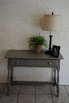 Annie Sloan Desk Chalk Paint Side Table French Linen. $395.00, via Etsy.