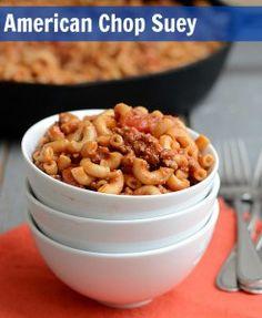 ... American Chop Suey on Pinterest   American Goulash, Chop Suey and