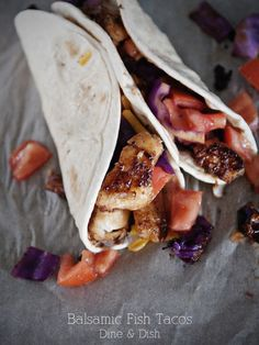 Balsamic Fish Tacos from Dine & Dish