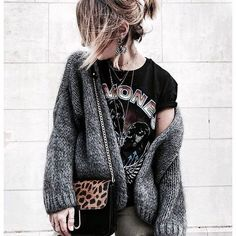 Cosy and comfy with a little bit of grunge