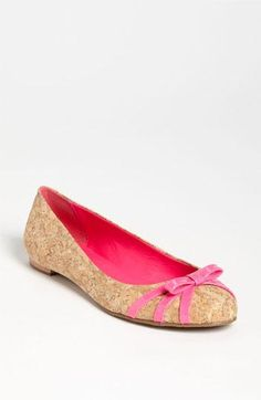 Put a bow on it. kate spade new york cork flats.