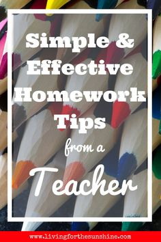 Stop fighting over homework for good and get homework done quickly and easily with these tips