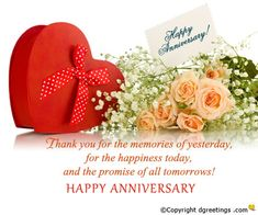 Dgreetings - Anniversary Thank You Card Anniversary Poems For Husband, Anniversary Wishes For Friends, Happy Anniversary Quotes, 3rd Wedding Anniversary, Best Anniversary Gifts, Anniversary Greetings, Anniversary Pictures, Happy Birthday Wishes, Anniversary Cards