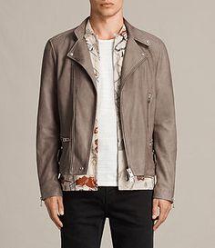 AllSaints New Arrivals: Gibson Leather Biker Jacket