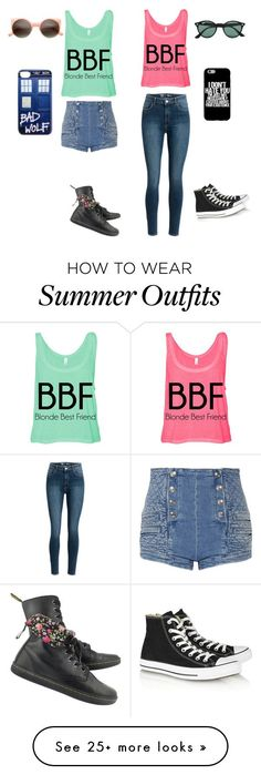 Me and LeeAnna! by jellybean016 on Polyvore featuring Pierre Balmain, Converse, Dr. Martens and Ray-Ban