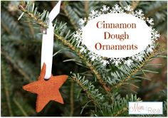 Cinnamon Applesauce Dough Ornaments #crafts #DIY