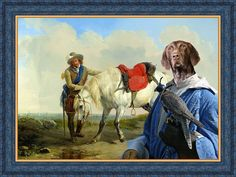 German Shorthaired Pointer Dog Art Print Canvas by NobilityDogs