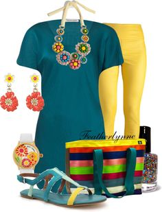 """""""Summer Medley Maggie Bag"""" by featherlynne on Polyvore"""
