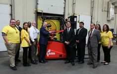 ShopRite donated a forklift and food to the Maryland Food Bank on Wednesday. The electric forklift will be used to help move food throughout the Baltimore warehouse.