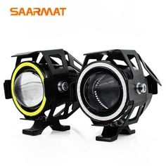 463688ee1 2x125 W U7 tienda motocicleta Ángel Ojos faro DRL focos auxiliar LED  brillante accesorios de la lá