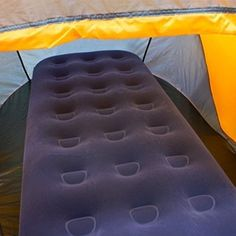 Air Mattress Inflatable Camping Single Size Waterproof Travel Flocked Up Air Bed