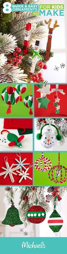Make this holiday memorable by crafting DIY ornaments with your kids. These projects are perfect memories for the tree or gift ideas for family. For more DIY ornament ideas and all of the supplies you need to craft them, visit http://Michaels.com
