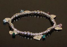 Sterling Silver Heart Bracelet Hand Stamped by BelindaCarmichaelSJ, $90.00