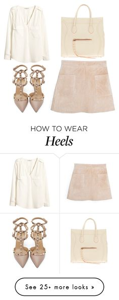"""""""Untitled #2504"""" by fiirework on Polyvore featuring H&M, MANGO, Valentino and CÉLINE"""