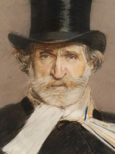 Detail One of the best-known works in the Arte Moderna, the 1888 pastel portrait of Giuseppe Verdi (1813-1901) by Giovanni Boldini (1841-1931).
