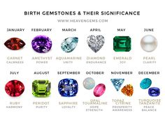 At Heaven Gems, we present to you the diverse manner of selecting gemstones. Birth gemstones are an interesting and popular approach of gemology, which resonates with all regardless of age, gender, religion or nationality. Have a great time discovering your birthstones and it's significance.  www.heavengems.com   #gems #gemstone #heavengems #gemology #birthstones