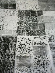 Julie B Booth: More Black & White: Texture Samplers