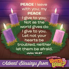 John 14:27 - Advent Verse of the Day 12/8/13 - Whats in the Bible
