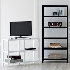 Ebony Copenhagen 6-Shelf Bookcase | The Container Store