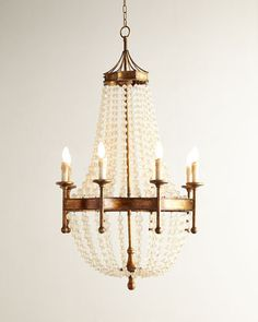 Frosted Crystal-Bead Eight-Light Chandelier by Regina-Andrew Design at Horchow.