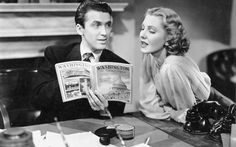 Jimmy Stewart and Jean Arthur. Mr. Smith Goes to Washington (1939) 1 280×800 пикс