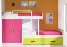 built in bunk bed love this for the girls!!