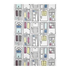 Britten Dorr...Ikea fabric. Good thing I'm moving to Portland soon. Ikea here I come! This would be great for my doors quilt which will be made I don't know when!