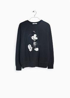 Katoenen sweatshirt met tekening