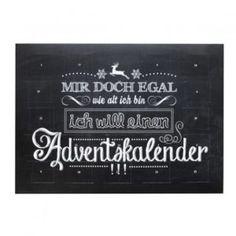 """Origineller Sprüche-Adventskalender """"Mir doch egal..."""""""