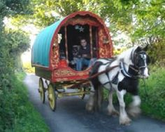 Horse drawn vardo (caravan) Ireland  Even better when your horse has the get up and go that ours did....