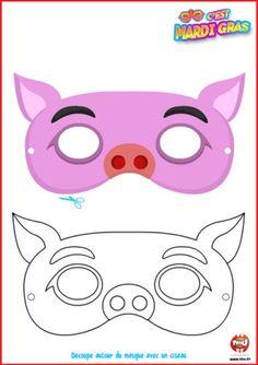 Tu te déguises en cochon cette année pour Mardi Gras? Alors ce masque offert par TFou est fait pour toi ! Imprime-le vite, colorie-le comme ...