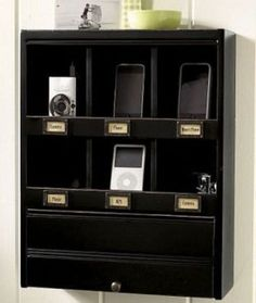 Vintage Look, Modern Function: Wall Organizer Dock   Apartment Therapy