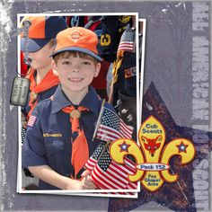 Boy Scout Scrapbook Page Layouts | ALL_AMERICAN_BOY_SCOUT1X1
