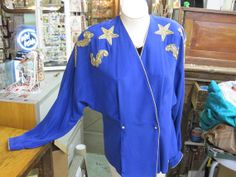 On SaleVintage Colbalt Blue Blouse 100 by StuartsHollywoodColl, $19.00