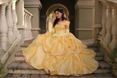 Beauty and the Beast Belle Adult Cosplay Costume Gown Dress Cosplay