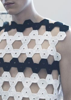 J. W. Anderson S/S12 looks like tessellated crochet to me??