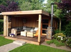 Amazing Shed Plans - Abris de jardins Now You Can Build ANY Shed In A Weekend Even If You've Zero Woodworking Experience! Start building amazing sheds the easier way with a collection of shed plans! Home And Garden, Garden Room, Garden Design, Shed Plans, Outdoor Rooms, Summer House, Building A Shed, Outdoor Projects, Garden Buildings