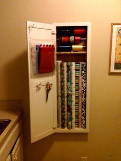 Repurposed ironing board cabinet #ironingboard #diy # ...