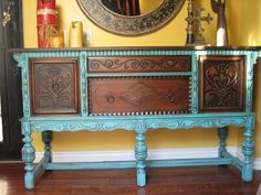 European Paint Finishes: ~ Old World European Sideboard ~