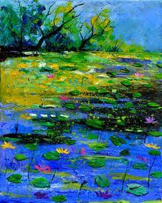 pond 452150, painting by artist ledent pol