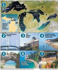 From the archives: Have you seen 7 Wonders of Michigan? Michigan Vacations, Michigan Travel, State Of Michigan, Detroit Michigan, Northern Michigan, Lake Michigan, Detroit Free, Michigan Facts, Wisconsin