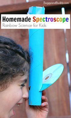 Comment fabriquer un spectroscope : un jouet qui fabrique les arcs en ciel quoi !