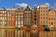 Traditional old buildings in Amsterdam, the Netherlands. Free art print of Old buildings in Amsterdam. 3 Days In Amsterdam, Amsterdam Winter, Amsterdam Art, Amsterdam Houses, Amsterdam Netherlands, Canal House Amsterdam, Holland Netherlands, Amsterdam Travel, Amsterdam Itinerary
