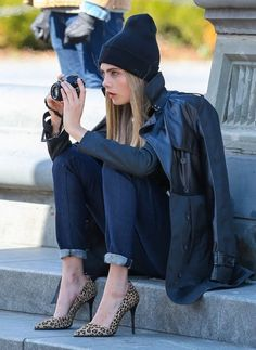 Cara Delevingne Poses for DKNY
