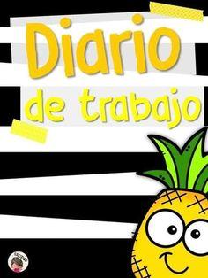Bonitas portadas para diario de trabajo Grammar Book, Image Fun, Binder Covers, Planner, Back To School, Preschool, Tropical, Clip Art, Classroom
