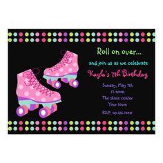 Roller Skate Birthday Invitations Roller Skates Birthday Party Invitations