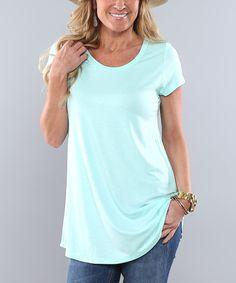 Love this Mint Short-Sleeve  Tunic on #zulily! #zulilyfinds